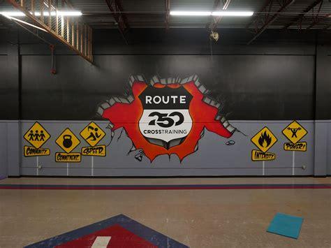 ohio cross training gym mural  route  graffiti