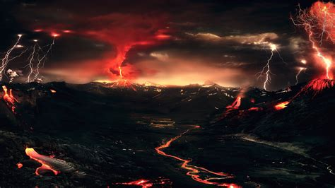 volcano background volcanic landscape hd wallpaper and background image