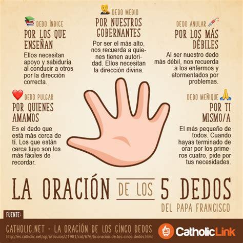 imagenes de alimentos espirituales infograf 237 a la oraci 243 n de los 5 dedos del papa francisco
