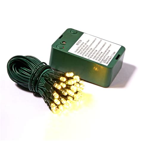 50 led lights battery operated sensor timer 5 inch