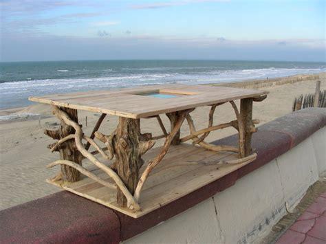 table basse en bois flott 233 et bois de palette bord de