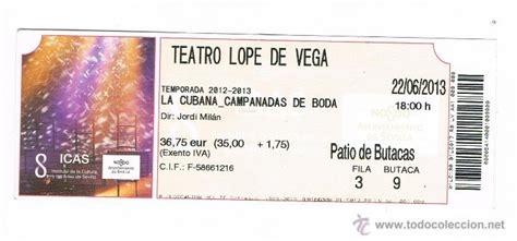 teatro lope de vega sevilla entradas entrada teatro lope de vega sevilla la cubana c comprar
