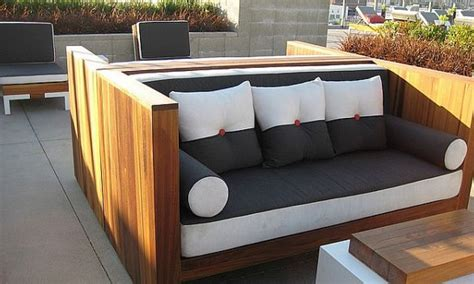 wooden patio furniture landscaping gardening