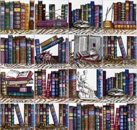 carta da parati finta libreria libri alle pareti