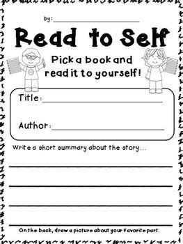 silent book report reading stations freebie response sheets for read to self