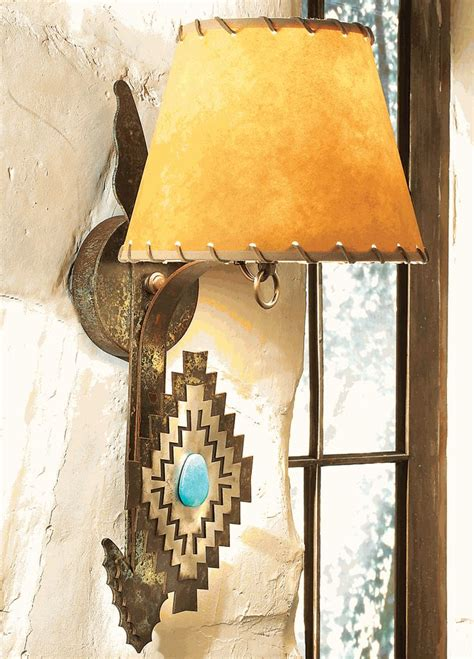 Rustic Wall Decor Turquoise Arrow Wall Lamp From Lone Star Western Decor