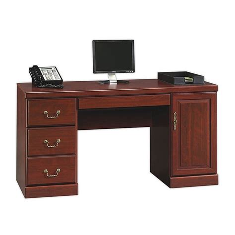 Computer Credenza Desk Sauder 174 Heritage Hill Computer Credenza With Laptop Drawer And Power 30 1 8 Quot H X 59 1 8 Quot W
