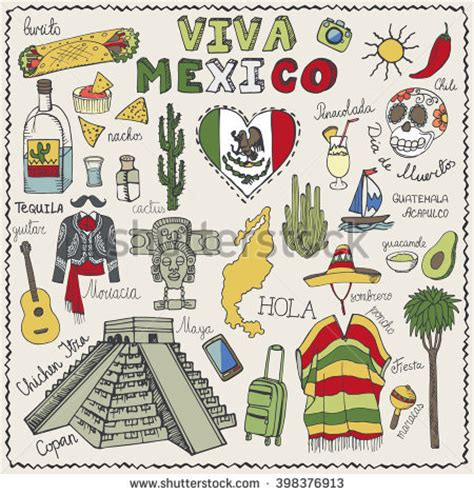 doodle espaã ol stock images similar to id 73297342 mexican