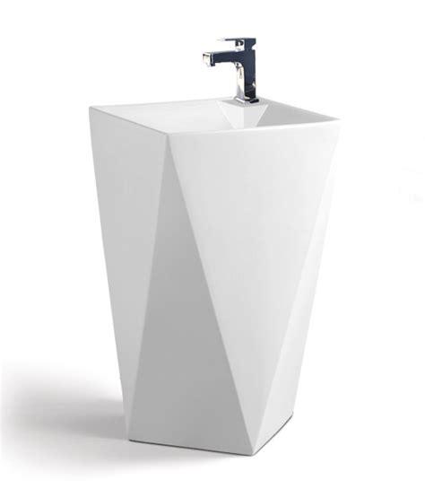 modern bathroom pedestal sink maccione modern pedestal sink