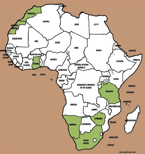 africa map for students center for studies student profiles williams