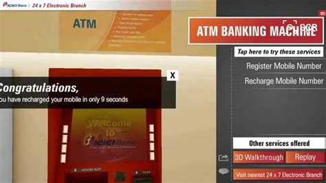 icici bank banking atm banking machine icici bank s 24 x 7 electronic branch
