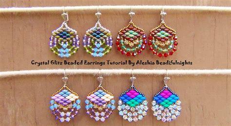 Beaded Earrings glitz beaded earrings tutorial