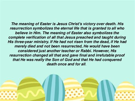 what is significance of easter easter time