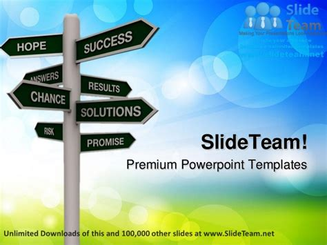 Direction Sign Success Power Point Templates Themes And Backgrounds P Success Powerpoint Templates Free