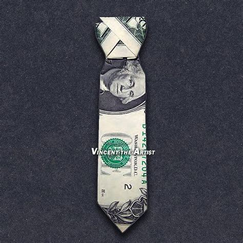 Origami Dollar Bill Shirt With Tie - dress shirt tie money origami clothes made from real