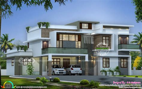 flat roof 4 bedroom modern house kerala home design and floor plans flat roof contemporary 4 bedroom home kerala home design and floor plans
