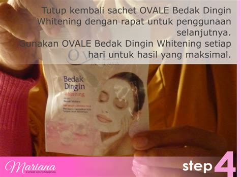 Bedak Dingin perawatan wajah dengan ovale masker bedak dingin mariana