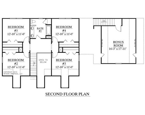 House Plan 2341 A Montgomery Quot A Quot Second Floor Plan Two Storey House Plans With Kitchen Upstairs