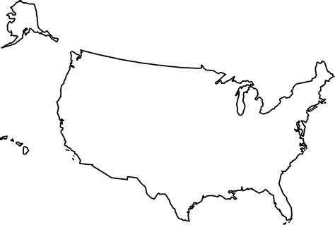 usa map outline clip united states map in white clipart best
