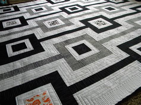 Black And Quilts by Sew Of Wonderful Black And White Quilt