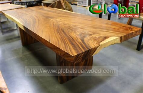 jual  edge wood table slab dining conference table