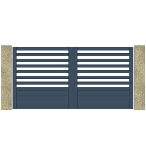 portail aluminium battant 4289 portail electrique 224 battant 2 3 ajour 233 barreaudage