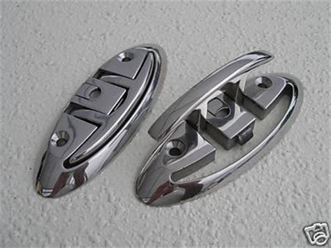 folding boat cleats stainless steel six inch surface mounted folding boat