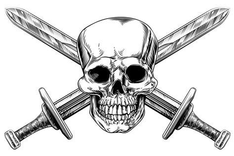 skull and sword tattoo tribal back tattoos