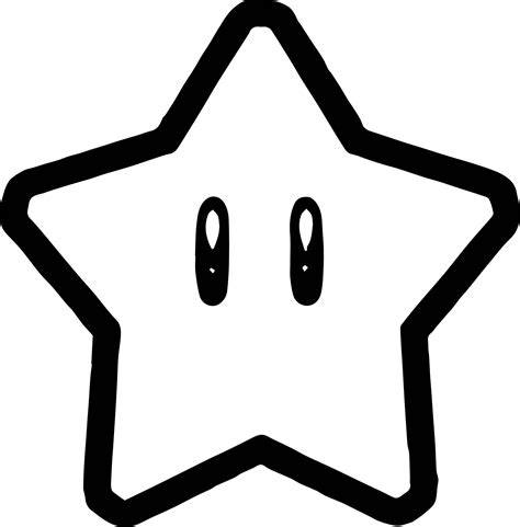 Mario Star Coloring Pages | super mario star coloring page wecoloringpage