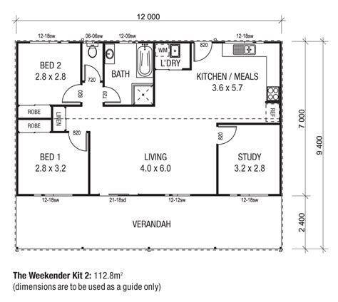 shed house floor plans the weekender kit homes wide span sheds the cottages