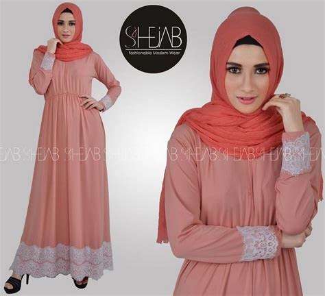 Baju Muslim 028 Motif 6 contoh model baju muslim motif renda terbaru 2017