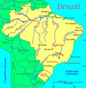 map of the river in south america brazil map