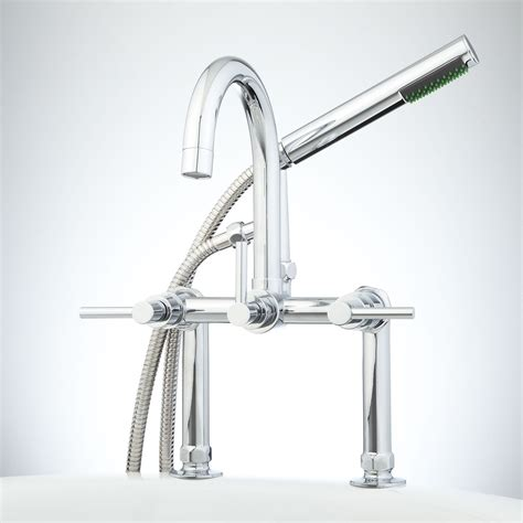 deck mounted bathtub faucets sebastian deck mount tub faucet and hand shower lever