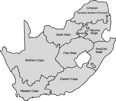 south africa map outline south map