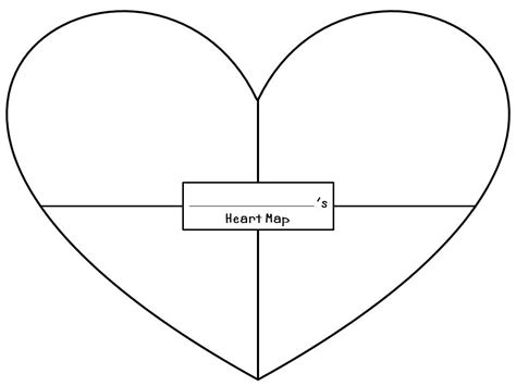 best photos of 5 tall heart template large heart