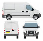 Nissan NV400 Van Vector Outline Graphic  365PSDcom