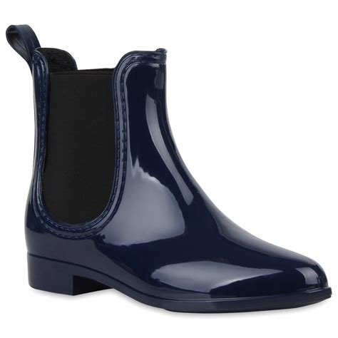 Lack Stiefeletten Damen by Damen Lack Stiefeletten Gummistiefel Chelsea Boots Schuhe