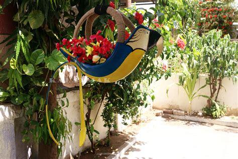 Parrot Planter by Parrot Blue Tyre Planter K03 World Community
