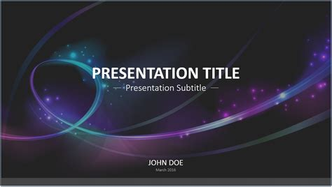 Abstract Waves PowerPoint Template #7295. Free PowerPoint