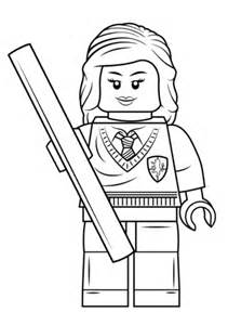 lego hermione granger coloring page free printable