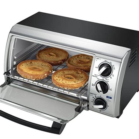 Black And Decker Countertop Oven Tro480bs by Black Decker Tro480bs 4 Slice Toaster Oven Black Silver
