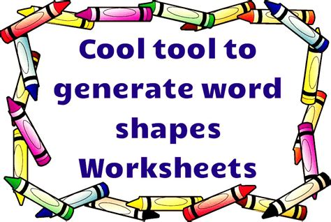 printable shapes word make your own spelling worksheets lesupercoin printables