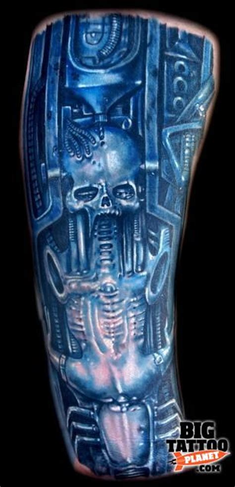 biomechanical tattoo artists california roman abrego biomechanical tattoo big tattoo planet
