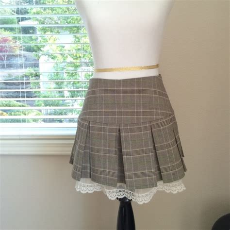 50 dresses skirts green and blue plaid skirt from