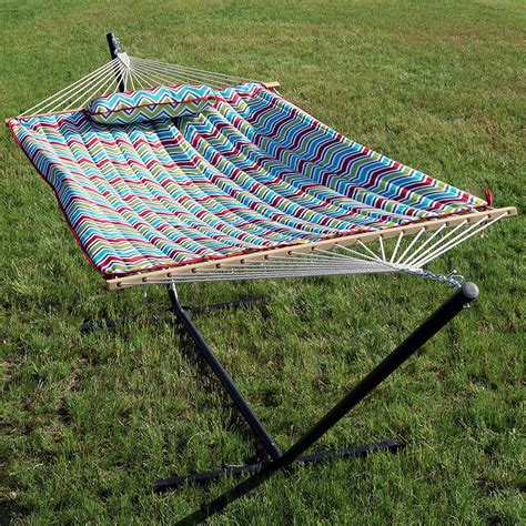 Hammock With Pillow by Rope Hammock With Stand Pad Pillow Portable Heavy