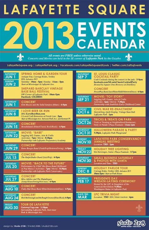 yearly events calendar inner west council website