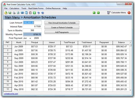 amortization table calculator calculate amortization schedules with real estate