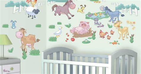 kinderzimmer deko bauernhof walltastic wandtattoo wandsticker kinderzimmer baby
