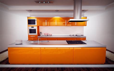 orange and white kitchen ideas 50