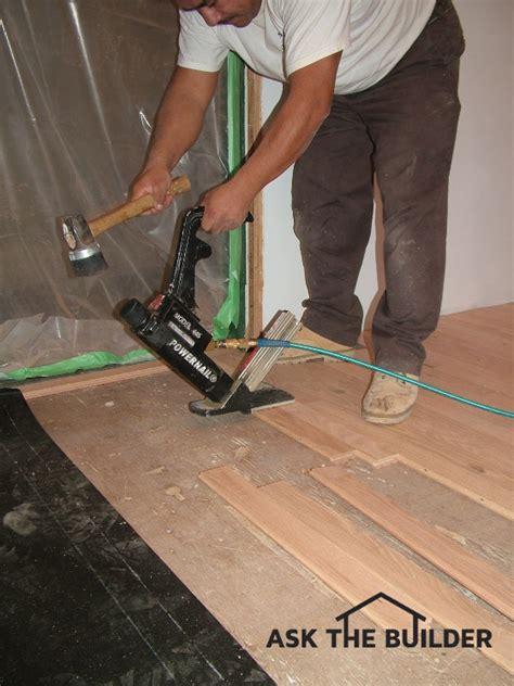 Hardwood Floor Nails Hardwood Floor Installation Ask The Builderask The Builder